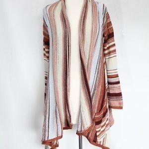Billabong Cardigan Sweater Large Striped Long